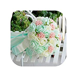 mamamoo Bouquets Artificial Flowers Wedding Romantic Wedding Brooch Bouquets Wedding Accessories 44
