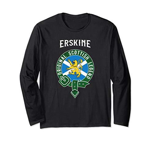 Erskine Clan Scottish Legend Scotland Flag Belt Long Sleeve T-Shirt