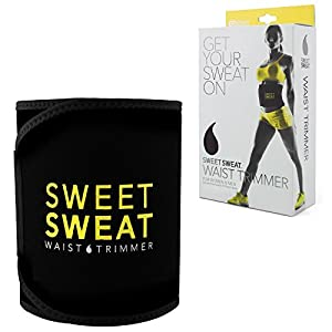 Sweet Sweat Premium Waist Trimmer, for Men & Women. Includes Free Sample of Sweet Sweat Gel! (Small)