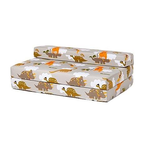 Cotton Ready Steady Bed Childrens Double Chair Futon Z Owls Design Guest Bed Folding Mattress Beige
