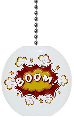 Comic Red Yellow Boom Solid Ceramic
