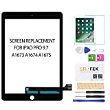 for iPad Pro 9.7 Screen Replacement -SRJTEK Touch Screen Replacement,Touchscreen,Touch Digitizer,Glass Repair Parts Assembly Kit for iPad Pro 9.7 2016 A1673 A1674 A1675,Include Tempered Glas (Black)