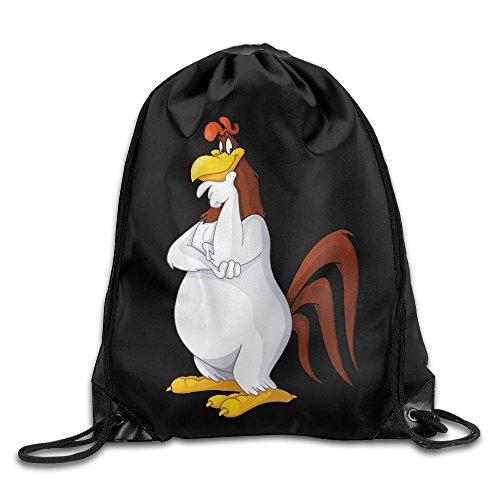 Foghorn Leghorn Nylon Gym Sack Bag Home Travel Sport Storage