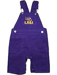 Louisiana State University LSU Tigers Newborn Baby Infant Toddler Overalls