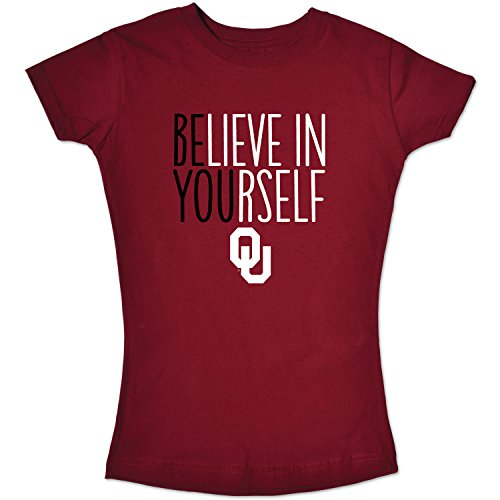 Short Girls Sleeve Tee (College Kids NCAA Oklahoma Sooners Girls Short Sleeve Tee, Size 10-12/Medium, Cardinal)