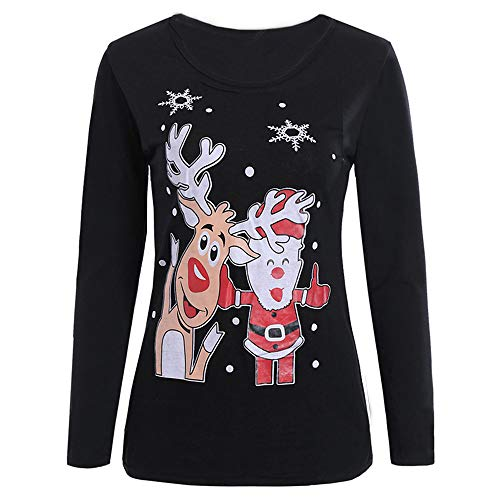 COPPEN Christmas Women Tops Zipper Dots Christmas Hooded Sweatshirt Pullover Blouse T-Shirt at Amazon Womens Clothing store: