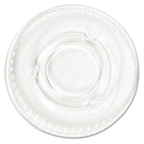 Boardwalk Portion Cup Lids, Fits .5-1oz Cups, Clear - Includes 25 packs of 100 each.