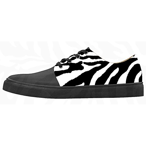 Custom zebra di stampa Womens Canvas shoes Le scarpe le scarpe le scarpe.
