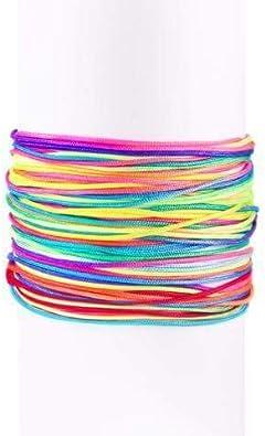 SINGULARU ®Pack 5 Pulseras Neon Rainbow Fruits Plata para Mujer ...