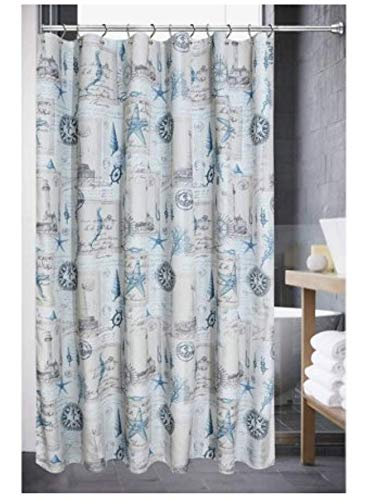 - Luxa Hotel Collection Sail Away Blue Shower Curtain