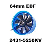 Mystery EDF Plus HL6408 2431-5250KV Brushless Motor 64mm EDF Ducted Fan Power System