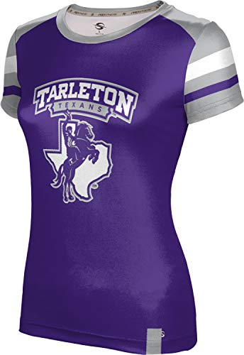 (ProSphere Tarleton State University Women's Performance T-Shirt (Old School) FF18 Purple and Gray)