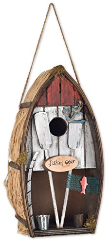 Sunset Vista Designs Row Boat Birdhouses for Outdoors Bird Feeder by