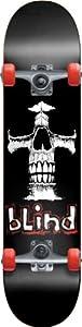 Blind Eternal Cross Youth Complete Skateboard, Black, Mid 7.3 by Dwindle Distribution