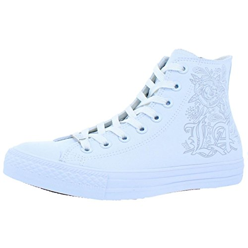 Converse Mens High Top Lace-up Fashion Sneakers White 6.5 Medium (D)