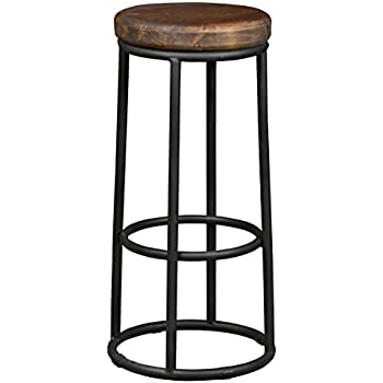 Amazon Com Derrick Bar Stool In Natural Wood Kitchen
