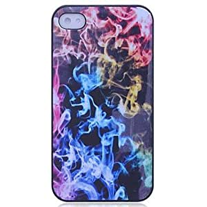JJE Lureme Colorful Fire Pattern Hard Case for iPhone 4/4S
