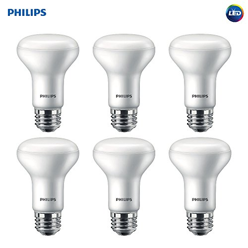 (Philips LED Dimmable R20 Soft White Light Bulb with Warm Glow Effect 450-Lumen, 2700-2200-Kelvin, 6-Watt (45-Watt Equivalent), E26 Base, Frosted, 6-Pack)