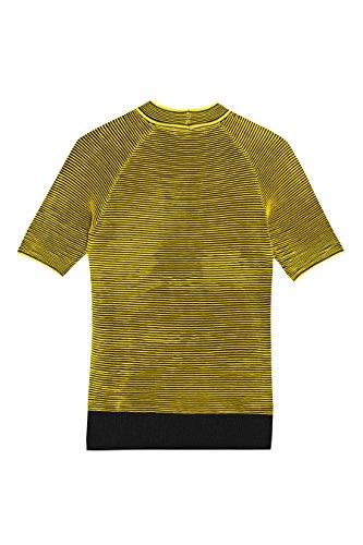 next Mujer Camiseta Ondas En Contraste Regular Ropa Top Amarillo