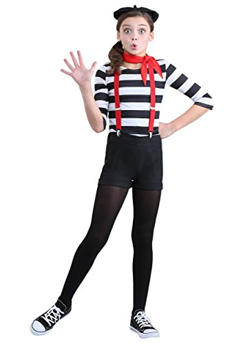 Mime Halloween Outfit (Girl's Mime Costume Medium)