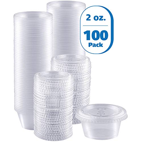 2 oz portion cups with lids - 5