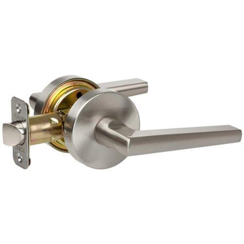 Delaney Vida Design Contemporary Satin Nickel Privacy Door Lever Hardware (Bed and Bath) by EZ-Set by EZ-Set