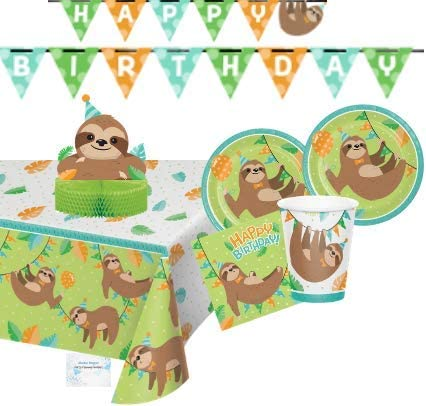 16 x Sloth Party Paper Napkin Sleepy Sloth Animal Zoo Party Supplies /& Tableware