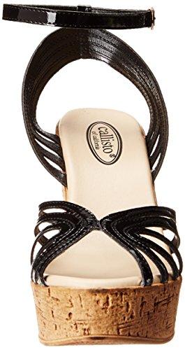 Black Women's Callisto Sandal Wedge Avanti Patent dTdqIwSzx