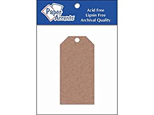 Accent Design Paper Accents ADPCTAG-XSM.357 Brown Bag Paper Craft Tags