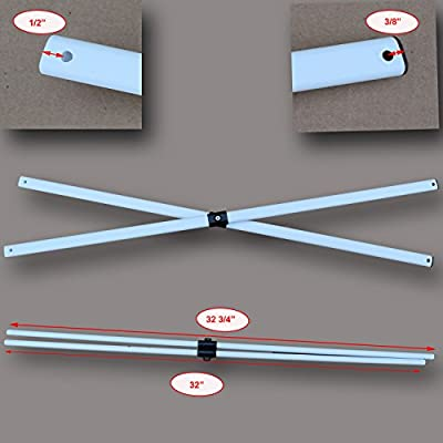 Ozark Trail Slant Leg 9' x 9' and 10' X 10' Canopy Side Truss Bar Replacement Parts : Garden & Outdoor
