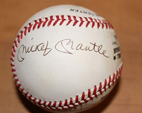 (Mickey Mantle Ernie Banks Bench Schmidt Rollie Fingers Autographed Signed Baseball Coa - Certified Signature)