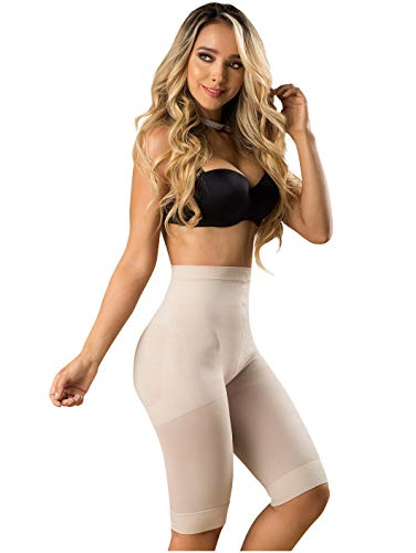 Laty Rose 21995 Shorts Levanta Cola Fajas Colombianas Butt Lifter Shaping Shorts,Beige,Small