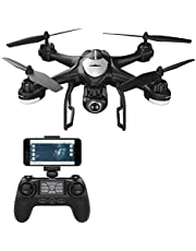 Potensic Drone con Cámara 1080P HD FPV, RC Drone WiFi, Dual GPS, Quadcotper con Cámara Ajustable de Gran Angular, T18 Negro