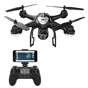 Potensic GPS Drone, Drones con Cámara 1080P HD, WiFi FPV RC Avion con 2.4Ghz Control Remoto, Cuadricoptero con 120º Gran Angular y Función Sígueme, Sostenedor de Altitud, Modo sin Cabeza, T18 Negro