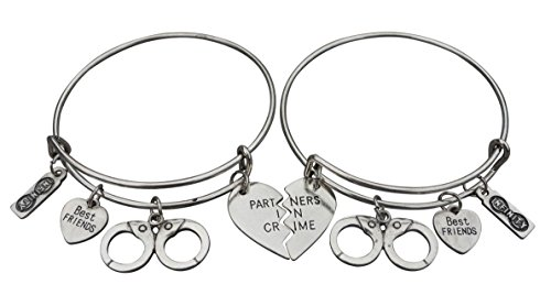 Infinity Collection Best Friend Bracelet, Best Friends Jewelry, Handcuff Bracelet-Partner in Crime- Perfect