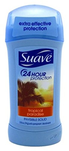 Suave 24 Hour Protection Invisible Solid Deodorant for Women, Tropical Paradise - 2.6 oz - 3 pk
