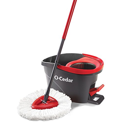 O-Cedar EasyWring Microfiber Spin Mop and Bucket Floor Cleaning System - Cleaning Floor