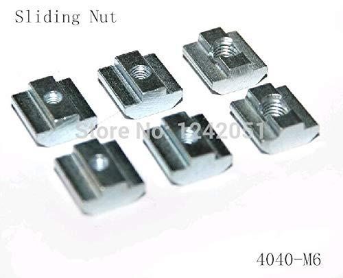 MAO YEYE 50pcs/lot T Sliding Nut Block M6 for 4040 Aluminum Profile Slot 8 Zinc Coated Plate Aluminum Accessories by MAO YEYE