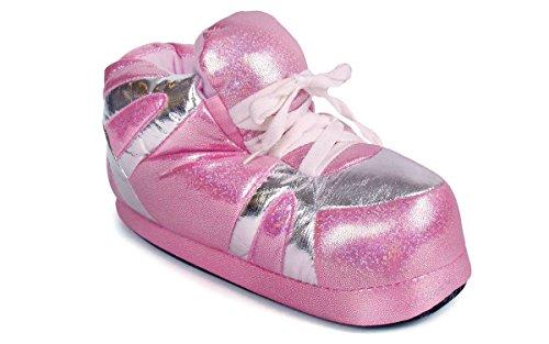 (Happy Feet 1084-2 - Pink Sequin - Medium Sneaker Slippers)