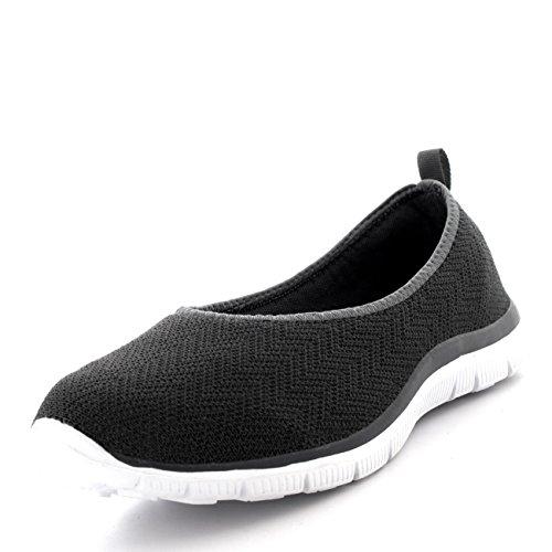 Yoga Zapatillas Malla Aptitud Deportes Mujer Bailarina Ligero Caminar Para Gris Gimnasio Corriendo AHqaEavxw