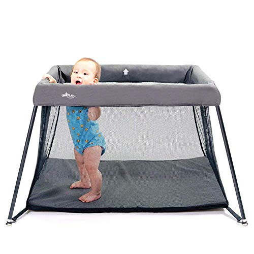 UNiPlay Portable Lightweight Baby Playpen Playard Travel Crib Pack `N PlayComfortable Mattress and Breathable Mesh Fabric