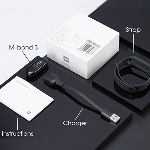 Xiaomi Mi Band 3Smart Pulsera Fitness Tracker Pulsómetro sofortnachr vacío recibas Alarma Resistente al Agua 5ATM OLED Pantalla táctil Previsión...