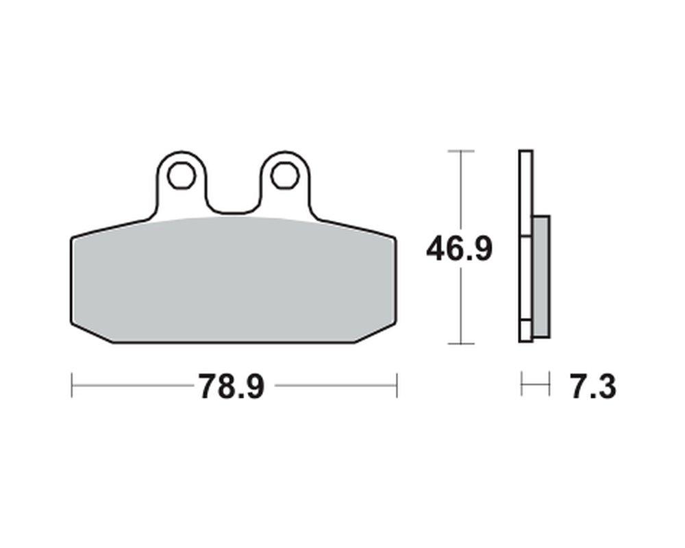 vorne R JC22/90/ Lucas Bremsbel/äge TRW MCB557SRM f/ür Honda NSR 125/F