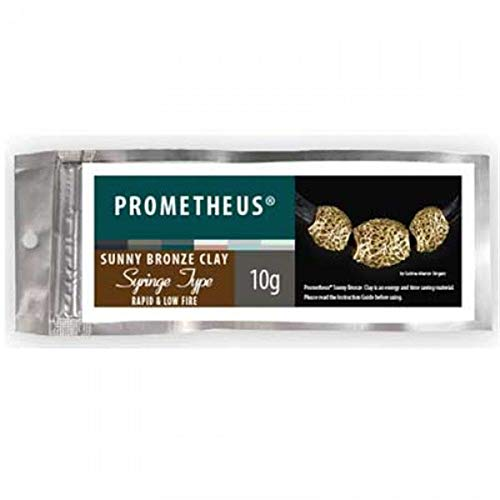 Prometheus Sunny Bronze Clay Rapid and Low Fire Metal Clay for Jewelry Making (10g Syringe)