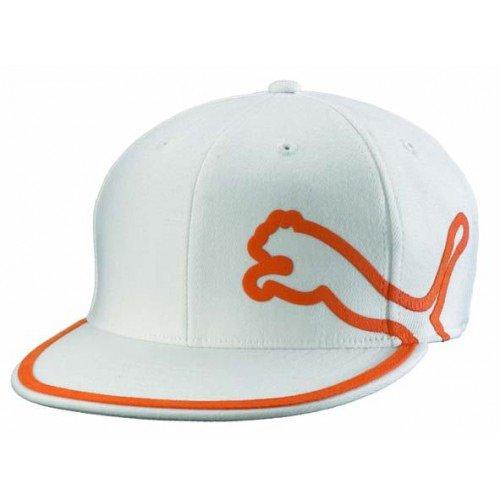 Puma Monoline 210 gorro (gorra de golf de color blanco Vibrante naranja 99fb784fa88