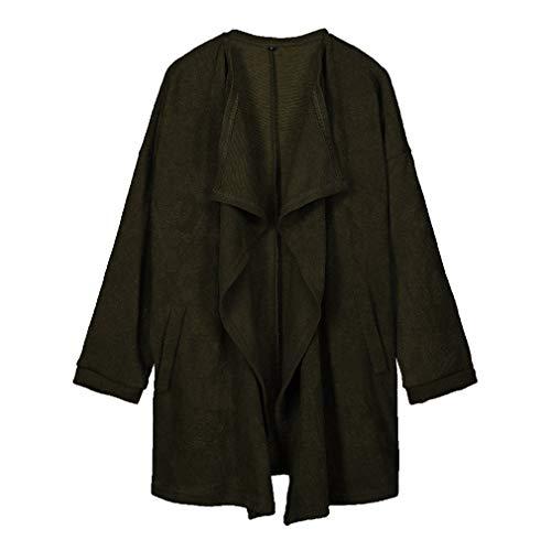 Fangcheng Tasca Calda Donne Spessa Manica Autunno Maglione Donna Cappotto Inverno Maglia Femme Lunga Verde Cardigan BBTnqHvPw