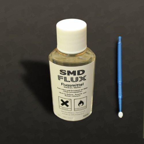 4× Elektronik-Flussmittel SMD-FLUX 'R12' 32ml in PET-Dosierflasche nabitec