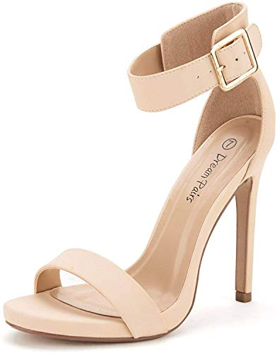 DREAM PAIRS Women's Ankle Strap Pumps Heel Sandals
