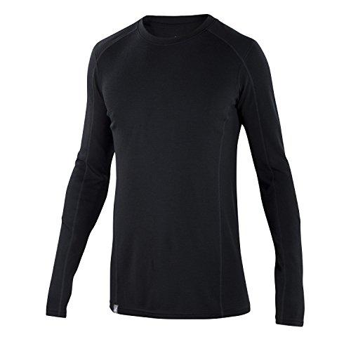 Top Protection Layer Spf 20 (Ibex Merino Wool Men's Woolies 2 Long Sleeve, Crew Top, Black, XX-Large)