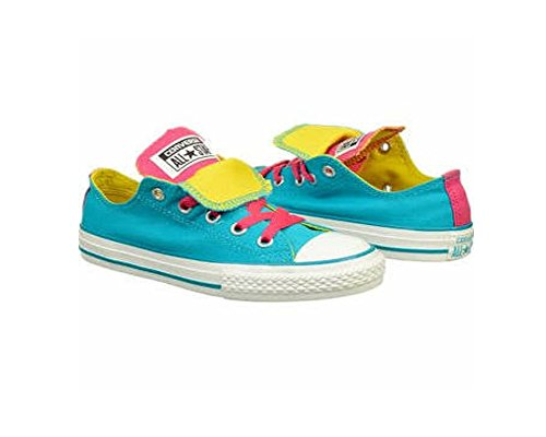 Converse CT Double Tongue OX Turquoise Kids Trainers Size 37.5 EU